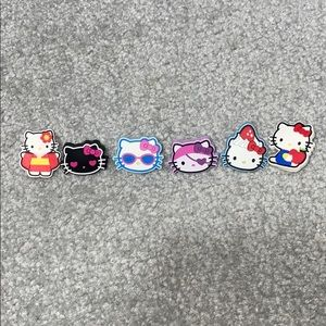 Bundle of Five Hello Kitty Croc Charms